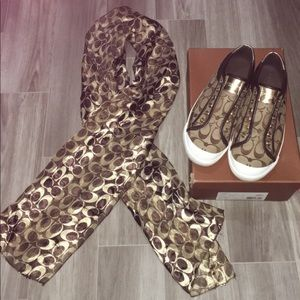 Coach shoes and scarf